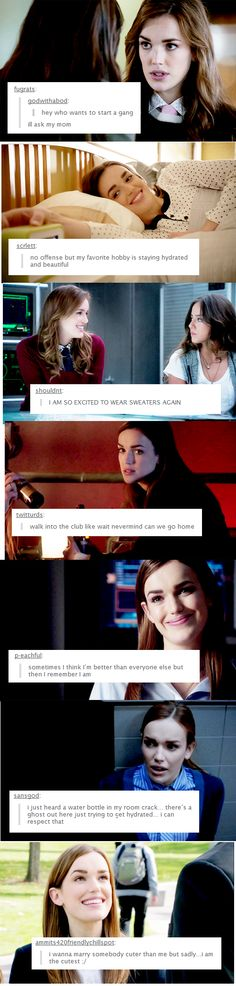 Jemma Simmons and text posts