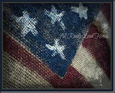 Americana Painted Burlap...