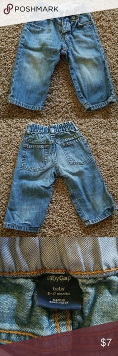 Baby Gap jeans Baby Gap jeans. In good used condition, slight thinning in the knee. Still lots of life left. Smoke free dog loving home. GAP Bottoms Jeans