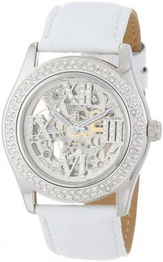 Burgmeister BM140-106 Ravenna Crystal Dial Automatic Skeleton Watch For Women