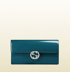 gucci icon polished leather continental wallet
