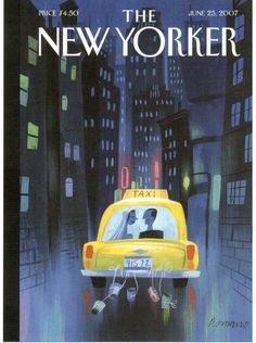 https://flic.kr/p/RRY4fR | Postcrossing US-4494737 | Postcard with the June 25, 2007 cover of The New Yorker magazine, called Big City Romance by Lou Romano.  Sent to a Postcrosser in Germany.