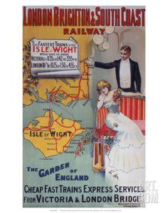 Isle of Wight: The Garden of England, LB&SCR, c.1905 Art Print at Art.com