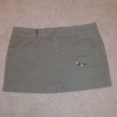 SO Military Green Skirt  - $11