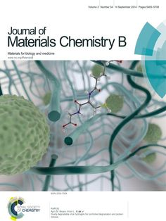 My image on the front cover of Journal of Materials Chemistry!