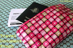 Sew Delicious: Travel Document Pouch - Tutorial