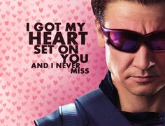 Hawkeye's Valentine's Day Card. Ok it's a little late but it made me fangirl.
