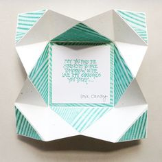 Napkin Fold Card with instructions