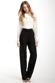 Chloe Wide Leg Silk Pant on HauteLook