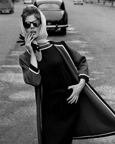 1950's ~ photo John French...I was just saying to someone recently how I want to start wearing scarves & sunglasses! Love it!