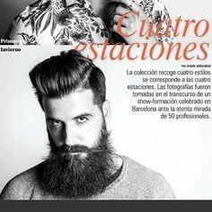 """Es un placer y un orgullo aparecer en la publicación bimensual de la revista """"C&C Magazine"""" @planetlookcom"""" ________________________________ Colección """"4 Estaciones"""" by Jose Navarro ( @newbarber.cat )  PHOTO @isaac_pipa  MAKEUP @laraguell ________________________________ #hairstyle #barber #beard #barba #estetica #editorial #makeup #barcelona #peluqueria #inauguration #model"""