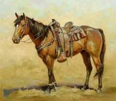 Horse painting by Shawn Cameron