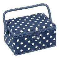 Sewing Basket White Spots on Navy