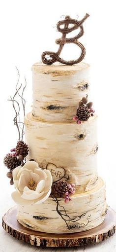 Birch Tree Wedding Cake More