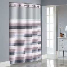 Hookless+Stripe+Shower+Curtain+with+Liner
