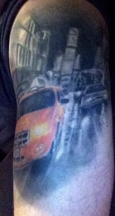 New York taxi tattoo