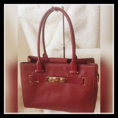 Coach Swagger Pebble Leather Carryall Black Cherry ~ NWOT #Coach #CarryAll
