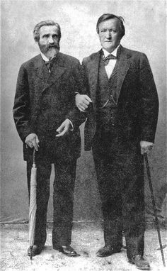 Giuseppe Verdi and Richard Wagner.