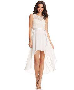 Roberta Juniors' High-Low Illusion Dress