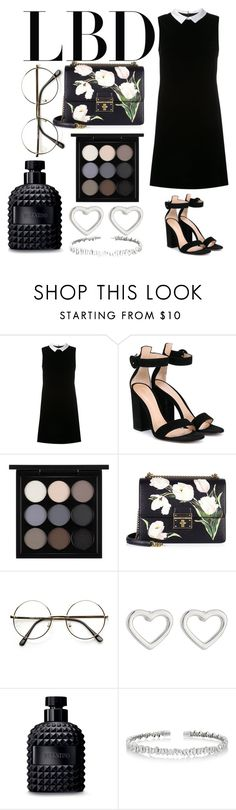 """litle black dress"" by georgiaschellenberg ❤ liked on Polyvore featuring Loveless, Gianvito Rossi, MAC Cosmetics, Dolce&Gabbana, Marc by Marc Jacobs, Valentino and Suzanne Kalan"