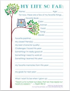 """My Life So Far"" - Free Printable Keepsake Record for Child Baby Memories, School Memories, Memories Box, Birthday Interview, For Elise, Baby Scrapbook, Pregnancy Scrapbook, All Family, Memory Books"