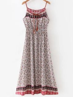 Waisted Maxi Floral Dress