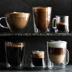 Shop Williams Sonoma for an extensive selection of high-quality coffee mug sets and stylish tea cups. Find ceramic coffee cups in a variety of styles and sizes. Tall Coffee Mugs, Glass Coffee Mugs, Ceramic Coffee Cups, Coffee Mug Sets, Coffee Love, Mugs Set, Best Coffee, Coffee Drinks, Coffee Shop