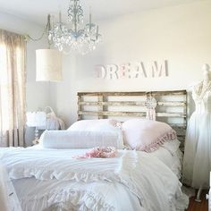 In all the hustle and bustle of life, don't forget to stop and dream of all things you wish for... My mom surprised me with the Shabby Chic letters that spell dream. I love them so much! They are so perfectly Shabby Chic. You can find them at Target. Have a lovely day! #shabbychicliving