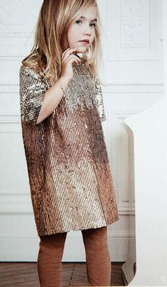 sequined dress with short sleeves by CHLOE
