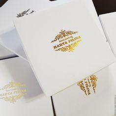 Купить Коробки с тиснением золотой фольгой - белый, шмуки, упаковка, коробка, коробка с логотипом