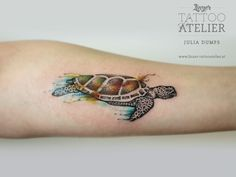 Turtle Watercolor Tattoo