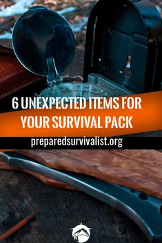 besides the essential survival gear basics you have in your survival pack there are some unusual survival items you can take with you. This post has 6 unexpected items for your survival pack that you can use next time you pack your survival gear Survival Items, Survival Supplies, Survival Food, Homestead Survival, Wilderness Survival, Outdoor Survival, Survival Knife, Survival Prepping, Emergency Preparedness