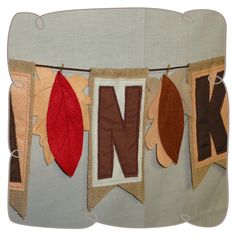 Thankful Bunting Machine Embroidery Projects, Bunting, Fall Designs, Thankful, Watercolors, Harvest, Hoop, How To Make, Fun