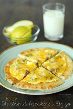 Easy Flatbread Breakfast Pizza