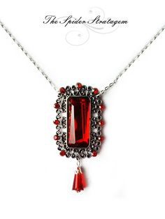 Gothic necklace 'Bloody Kiss' halloween goth by SpiderStratagem