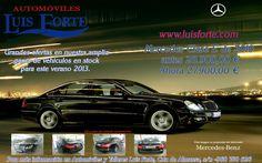 Automóviles y talleres Luis Forte en Yecla te ofrece como amigo de yecla ofertas Mercedes clase E de 2010 por 27.900,00 € en web precio 28.900,00 ven e infórmate sobre sus características y formas financiación a tu medida !!!