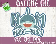 Kids Cuts, Back Pieces, Vinyl Shirts, Silhouette Cameo, Silhouettes, Cutting Files, Vinyl Decals, Shark, Nom Nom