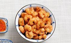 Friterade räkor med sweet chilisås