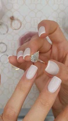 Engagement Ring Shapes, Beautiful Engagement Rings, Halo Diamond Engagement Ring, Beautiful Rings, Pear Shaped Engagement Rings, Rose Gold Engagement, Designer Engagement Rings, Engagement Ring Settings, Diamond Wedding Bands