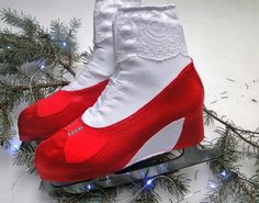 Ruby Red Slippers Skate Boot Covers / Figure Skating / Ice Skating / Roller Skating
