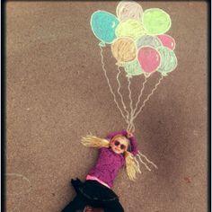 Creative kid photography with chalk art!