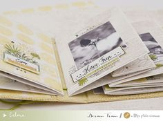 Scrapbooking Mini Album, Baby Scrapbook, Travel Scrapbook, Arts And Crafts Projects, Diy Projects To Try, Washi, Mini Albums Photo, Flower Power, Tutorial Scrapbook