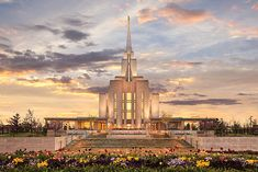 "Oquirrh Mountain Utah Temple - from photographer Robert A. Boyd - ""His Holy House"""