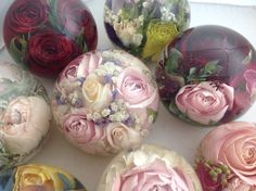 Flowers preserved forever in our lovely paperweights