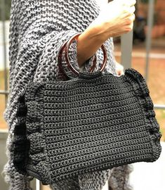 """Black Barrel bag🖤 Small in size but full of character!Shop now fresh and unique choices by One&OnlyNew """"Passion"""" coming soon online♥️ Mode Crochet, Bag Crochet, Crochet Handbags, Crochet Purses, Barrel Bag, Diy Purse, Summer Bags, Spring Summer, Knitted Bags"""