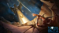 Banisher Priest card art by Gong Studios for the Nova Blitz trading card game. Play the demo at NovaBlitz.com/demo!