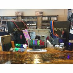 VAPE GEAR/SUPPLIES!  Looking for Vape supplies, gear and/or accessories?  Look no further than KV! We have a huge selection of whatever you are looking for...batteries, readers, lanyards, stands, wraps, sleeves, coilers, chargers, pouches, bands, wire, tools, replacement glass and so MUCH more in store or online: www.KnoxvilleVaporShop.com  Check out all the accessories you could ever need at...  Knoxville's & Sevier's Finest  #knoxvillevapor #knoxvillevaporpigeonforge #knoxvillesfinest…