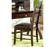 Sao Paulo Side Chair - The Sao Paulo side chair will sit quietly in your office or fit nicely in the bedroom. Combine with the matching Desk (71-SU150D) and Hutch (71-SU150H) to complete your work space. If home delivery is chosen, this item ships boxed - some assembly required.