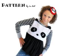 Panda Bear Bubble Dress and Headband Crochet Pattern    http://www.irarott.com/Panda_Bear_Dress_Crochet_Pattern.html