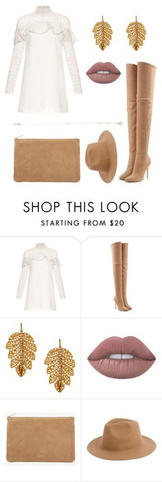 """""""Untitled #77"""" by clarabellasweet ❤ liked on Polyvore featuring self-portrait, Balmain, Marika, Lime Crime, Armitage Avenue and Bee Goddess"""